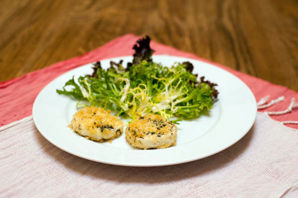 Baked Goat Cheese With Frisée Salad